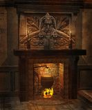Fantasy fireplace Stock Photography