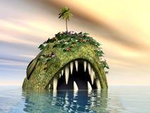 Fantasy Fish. Computer generated 3D illustration with Fantasy Fish Stock Photos
