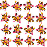 Fantasy fish  seamless pattern and seamless pattern in swatch me Royalty Free Stock Photo