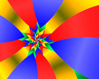Fantasy flag. Abstract fractal image resembling a fantasy flag with a star motif Stock Photo