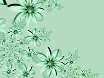 Fantasy floral image, backgroung for inserting text. Flower background for inserting text. Green fractal picture. Fractal image, beautiful template for Royalty Free Stock Photography