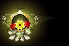 Fantasy flower banner illustration Stock Photography