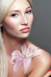 Fantasy flower body-art Stock Image