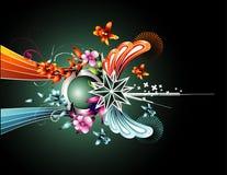 Fantasy flower illustration Royalty Free Stock Images