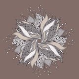 Fantasy flower pattern Royalty Free Stock Images