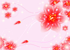 Fantasy floral wallpaper Royalty Free Stock Photo