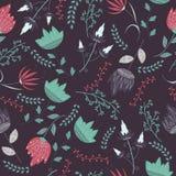 Fantasy flowers pattern Royalty Free Stock Image