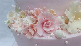 Pastel fantasy sugar flowers and pearls Royalty Free Stock Photo