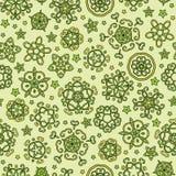 Fantasy flowers seamless background vector Stock Photos