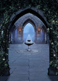 Fantasy font in a castle at night Royalty Free Stock Image