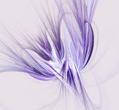 Fantasy fractal design in  blue and purple colors. Digital art. Stock Image
