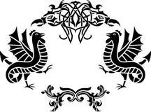 Fantasy framework second variant Royalty Free Stock Images