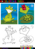Fantasy frog prince for coloring Royalty Free Stock Image
