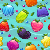 Fantasy fruits pattern Royalty Free Stock Image
