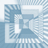 Fantasy futuristic corridor in blue colour Stock Photography