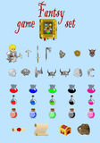Fantasy game set vector Stock Photos