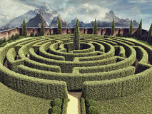 Fantasy garden maze Royalty Free Stock Images