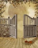 Fantasy gate Stock Images
