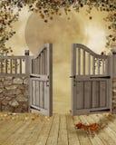 Fantasy gate Stock Images