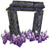 Fantasy gate with crystals Stock Photography