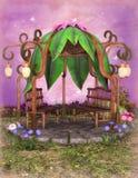 Fantasy gazebo. 3D illustration of a fantasy gazebo in garden Royalty Free Stock Photography