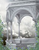 Fantasy gazebo with flowers Royalty Free Stock Photography