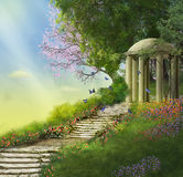 Fantasy gazebo Stock Images