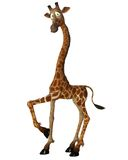 Fantasy giraffe 1. 3D render of a cute fantasy giraffe royalty free illustration