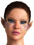Fantasy girl with elf ears Stock Images