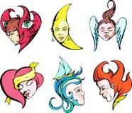 Fantasy girls royalty free illustration