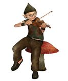 Fantasy gnome 1. 3D render of a fantasy gnome with a violin Stock Images