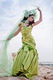 Fantasy Goddess. Haute couture fashion with a fantasy goddess theme Royalty Free Stock Image