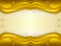 Fantasy golden background Stock Images