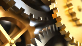 Fantasy golden clockwork. Industrial background Stock Photo