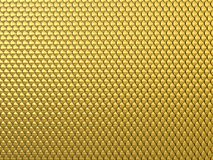 Fantasy golden squama background or texture. Abstract Fantasy gold 3d background similar to dragon skin or Chainmail Armor Royalty Free Stock Photography