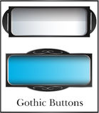Fantasy gothic buttons Stock Image