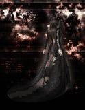 Fantasy Gothic Woman 300 dpi royalty free stock photos