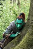 Fantasy green Elf Stock Image