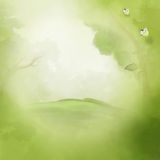 Fantasy green landscape background Stock Photos