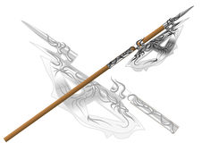 Fantasy halberd Royalty Free Stock Image