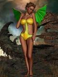 Fantasy Halloween Figure stock illustration