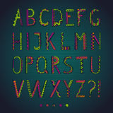 Fantasy hand drawn colorful font. Stock Photo