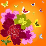 Fantasy hand drawn flowers Royalty Free Stock Photo