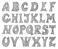 Fantasy hand drawn font. Royalty Free Stock Photos