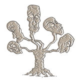 Fantasy heads tree Stock Photography