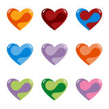 Fantasy Hearts. Vector Illustration of Nine Fantasy Hearts Stock Image