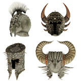 Fantasy helmets 1 Stock Photos