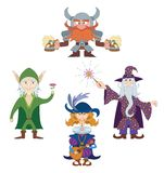 Fantasy heroes, set Royalty Free Stock Image