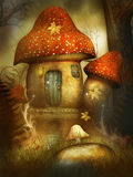 Fantasy Home of mushrooms Stock Photo