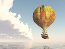 Fantasy Hot Air Balloon. Computer generated 3D illustration with a Fantasy Hot Air Balloon Stock Photo